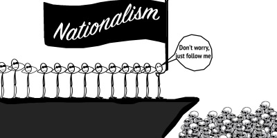 Blind followers of nationalism