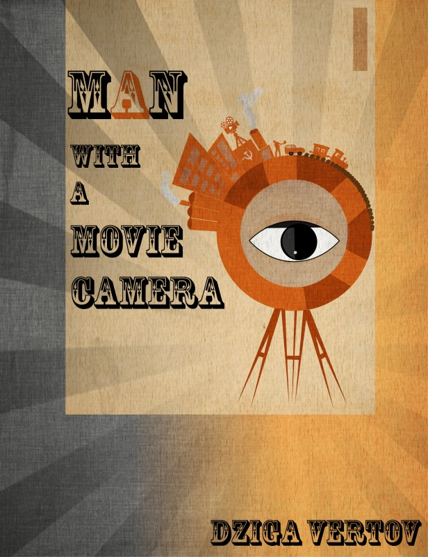 Man with a movie camera TEXTURED